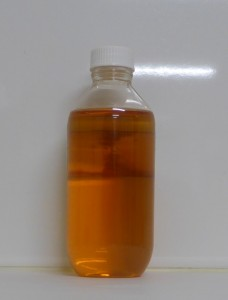 Colour of water sample correctly preserved with Lugol's Iodine